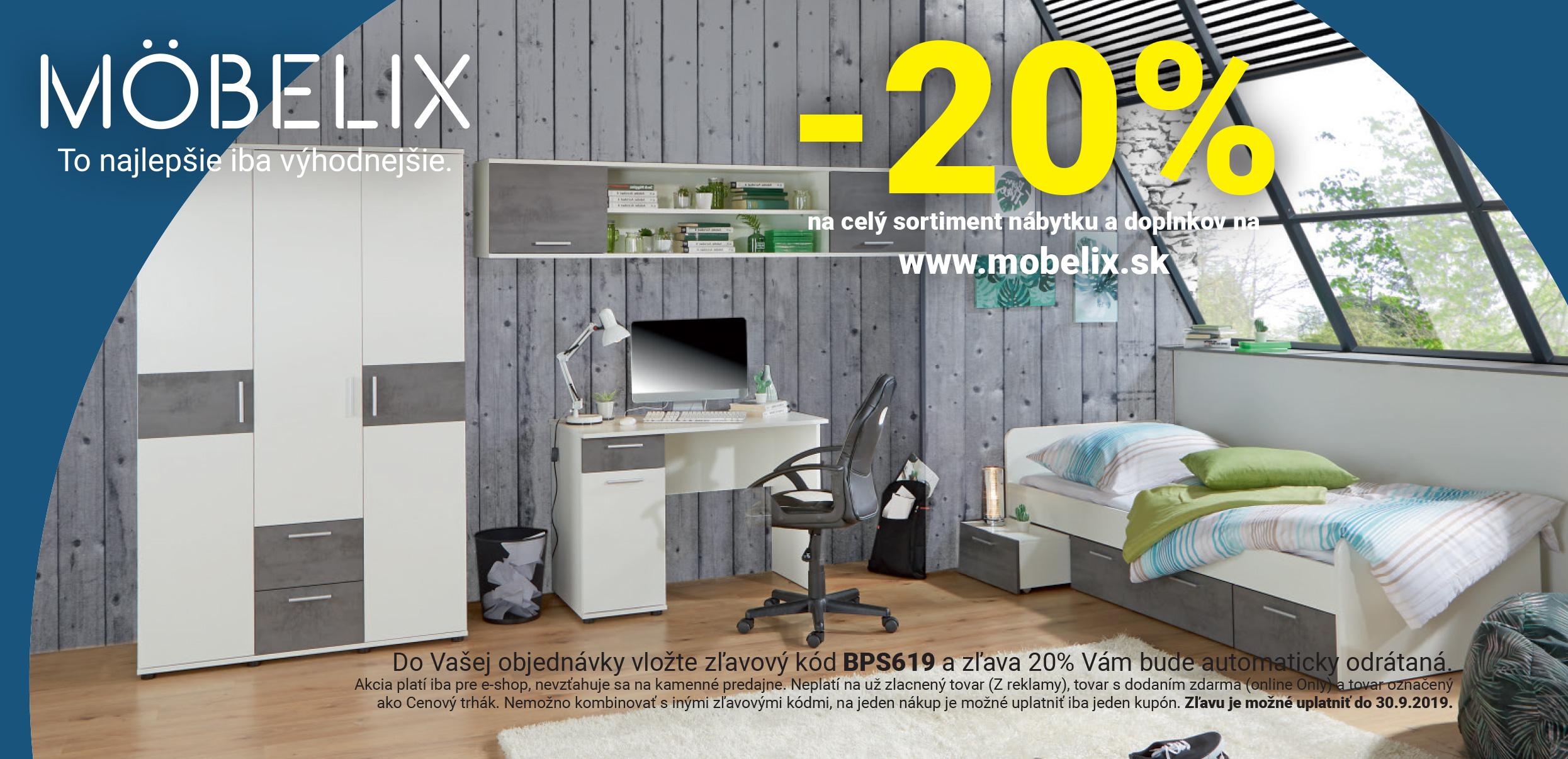 20 Moebelix slevov kdy a slevy srpen 2020
