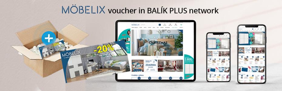 Voucher Moebelix in BALÍK PLUS network
