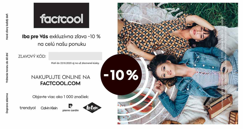 zľavový kupón factcool.com